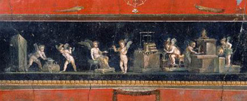 Pompeii: House of the Vetti Brothers: artisans cupids