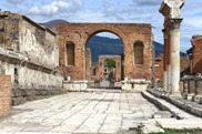A view from the Forum of Pompeii ruins