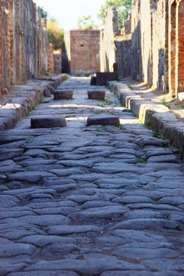 A typical Pompeii ruins road