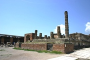 Temple of Jupiter in Pompeii ruins