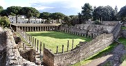 The Palaestra, situated near the Amphitheatre in Pompeii ruins