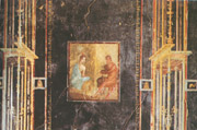 Fourth style painting in Pompeii, from the Hous of Fabius Rufus