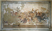 Mosaic floor with the battle between Alexander the Great and Darius of Persia in the House of the Faun 
