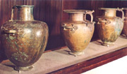 Bronze vases found in the Hypogeum