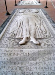 Buried in the Basilica of the Holy Cross
