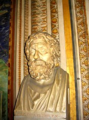 Bust in the Gallery of maps