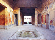 The atrium of the House of the Menander in Pompeii