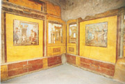 Some frescos of the Vetti House in Pompeii