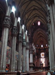 Interior of the Duomo of Milan