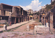 The Forum in the ruins of Herculaneum