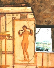 Fresco of Venus in the House of the Prince of Naples in Pompeii