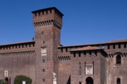Panorama of the Sforzesco Castle