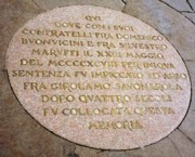 The Place where Savonarola was executed