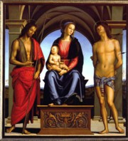 Perugino's Madonna with child and Saints