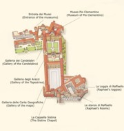 Map of the Vatican Museums