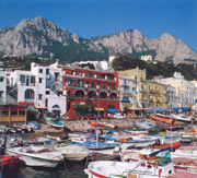Marina Grande, the port of Capri island