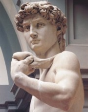 Michelangelo's David in the Accademia Gallery