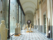 One of the galleries inside the National Archaelogical Museum of Naples