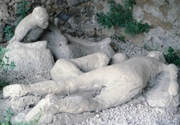 The last moments of the ill-fated Pompeiians, frozen forever in plaster
