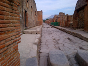 Via Stabiana, one of the streets in Pompeii