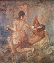 Satyr and Hermaphrodite in Pompeii