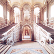 The Grand staircase of the Royal Palace of Caserta