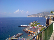 View of Sorrento coast