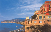 The Hotel Vittoria and its view on the Sorrento Coast