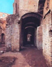 The subterranean passages in the coliseum