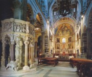 The sumptuous interior of the Cathedral of Pisa