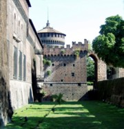 View of the Sforza Castle