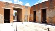 Atrium of a domus in Pompeii ruins