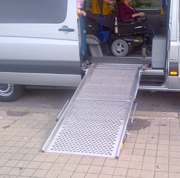 Minivan for wheelchair confined passengers