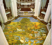 Majolica flooring of the Church of St. Michael at Anacapri