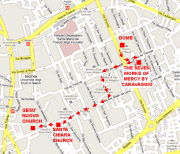 Itinerary of the walking tour