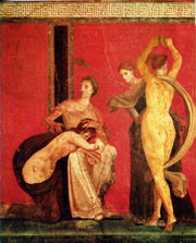 The room with the frescos of the Dionysiac mysteries