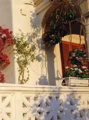 Detail of a villa on the Amalfi Coast