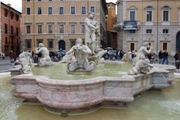 The Moro Fountain in Navona square