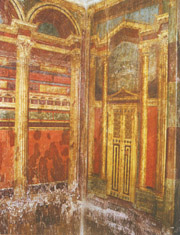 the four different style paintings in pompeii