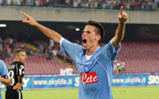 Hamsik after a goal