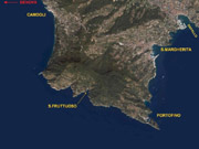 Satellite View of Portofino and Santa Margherita Ligure area