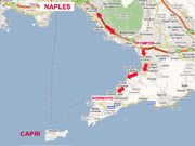Itinerary of Capri and Pompeii tour