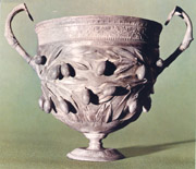 Silver cup from the House of the Menander
