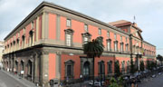 The facade of the Archaeological Museum of Naples
