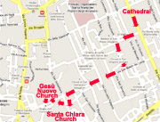 ITINERARY OF THE WALKING TOUR OF HISTORIC CENTER OF NAPLES