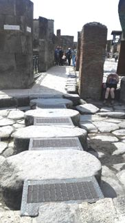 Ramp for wheelchair visitors in Pompeii ruins