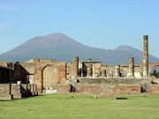 Temple of Jupiter at the north end of Pompeii ruins forum