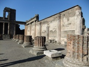 The building known as Basilica in the Pompeii ruins