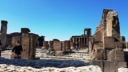 The Basilica at Pompeii, it is the oldest known basilica of the Roman world