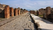 A typical street in Pompeii ruins